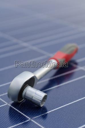 solarzellen und ratsche