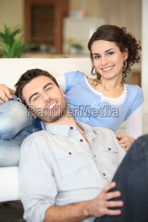 cheerful young couple