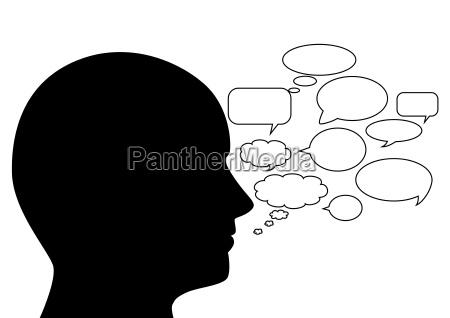 head with speech