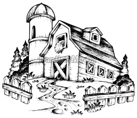 thema bauernhof zeichnung 1