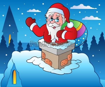 winter scene with christmas theme 4