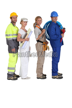 different building trades