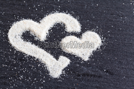 heart made of sand