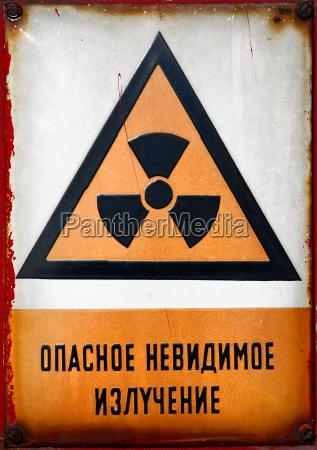 radioaktive zeichen