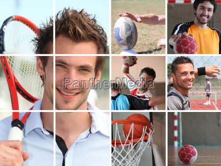 sport themen collage