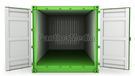 opened green freight front view