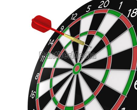 dart missed the center