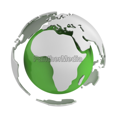 abstract green globe africa part