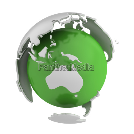 abstract green globe australia part