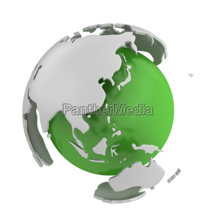 abstract green globe asia