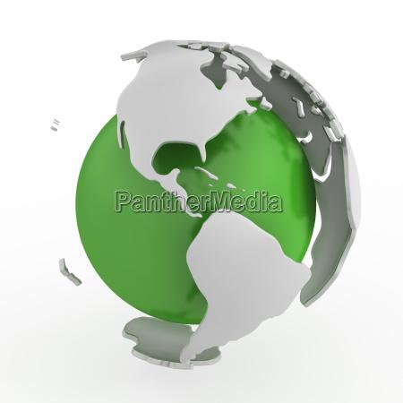 abstract green globe america