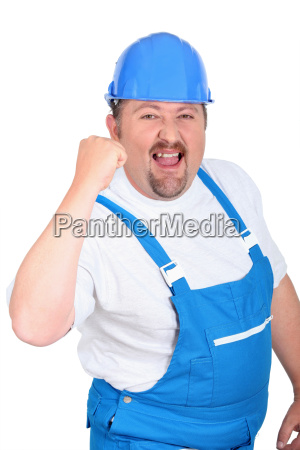 happy male builder