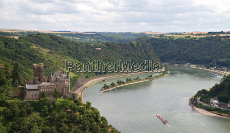 burg katz mit loreley