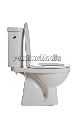 weisse keramik toilette