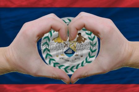 handbewegung fahne flagge staatlich geste gebaerde