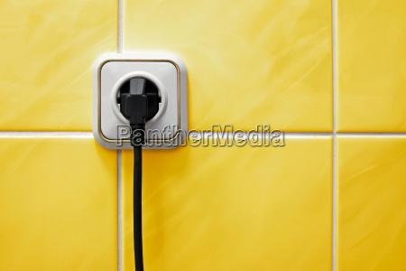 steckdose in einem badezimmer
