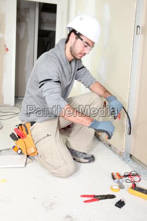 elektriker verdrahtung ein haus