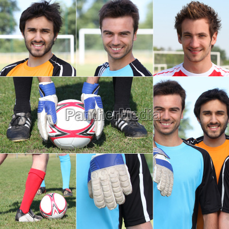 photo montage of young men playing