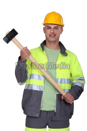 builder halten vorschlaghammer