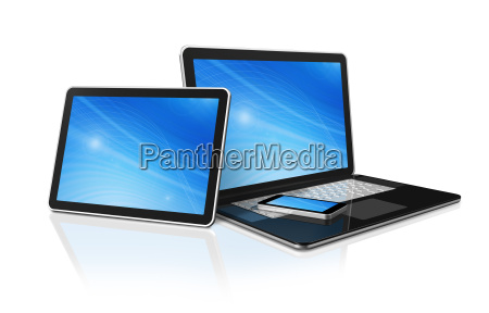 laptop handy und digitale tablet pc