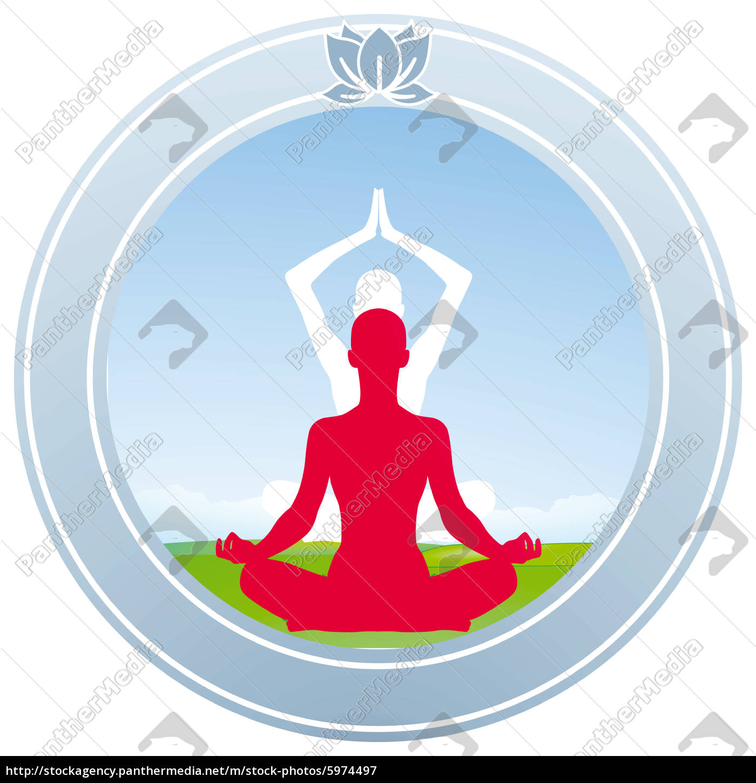 Yoga Lotus Zeichen Stockfoto 5974497 Bildagentur Panthermedia