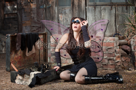 fairy with loupe glasses