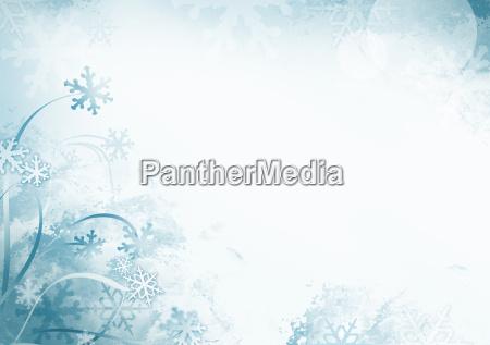 blauen winter schneeflocke hintergrund mit kopie