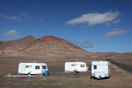 mobile homes on canary island lanzarote