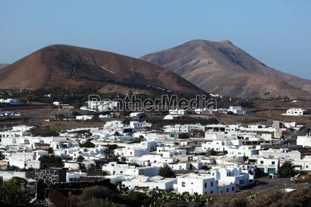 town yaiza on canary island lanzarote