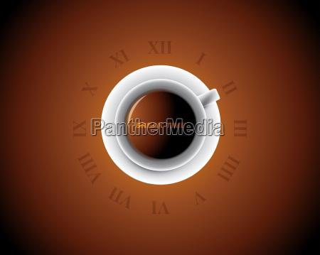 cup of coffee like a clock