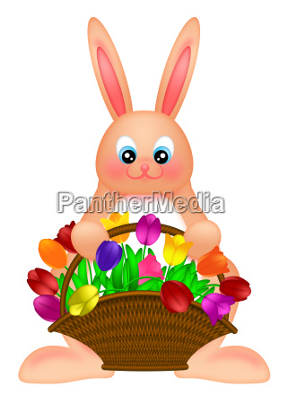 happy easter bunny rabbit with