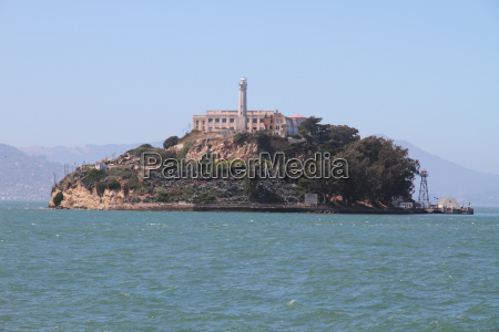 beruehmte insel alcatraz in san francisco