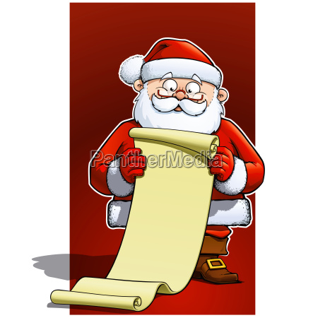 santa with scroll