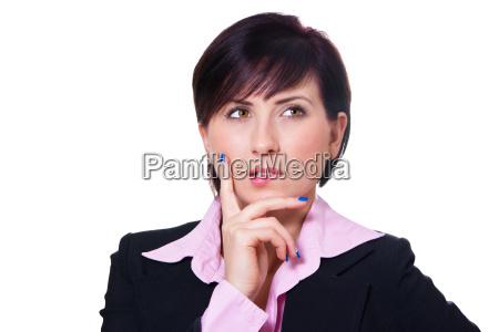 geschaeftsfrau denkt nach