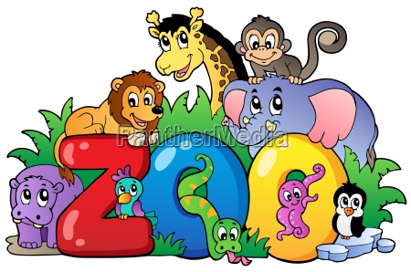 zoo sign with various animals