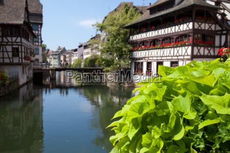 frankreich elsass postkarte strassburg touristisch fluss