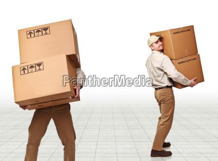 post man at work