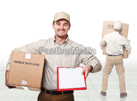 delivery man at work