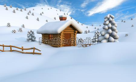 winter blockhaus