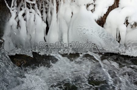 winter cold ice icicle icicles water