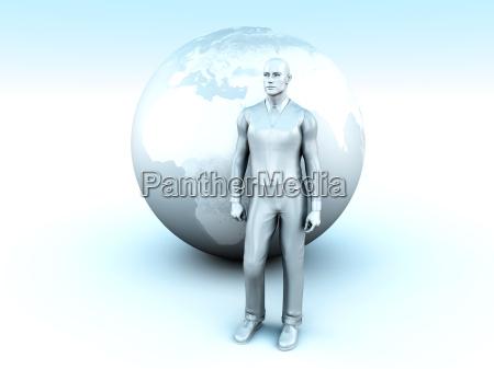 globale geschaeftsmann