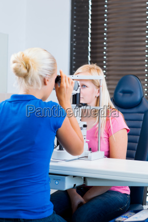 optometry concept patient having her