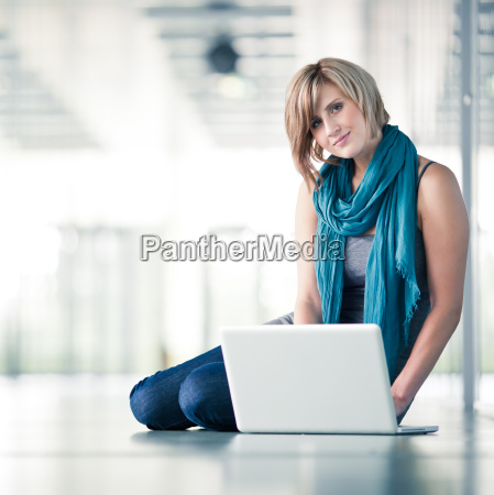 portrait of a young studentbusinesswoman with