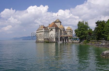 moated castle chillon lake geneva