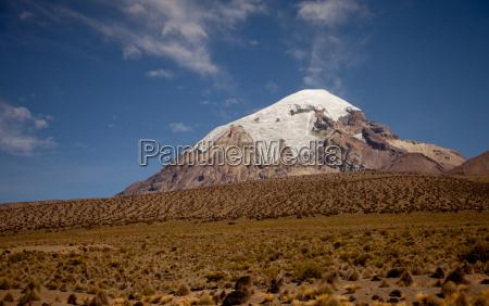 andean landscape in bolivia