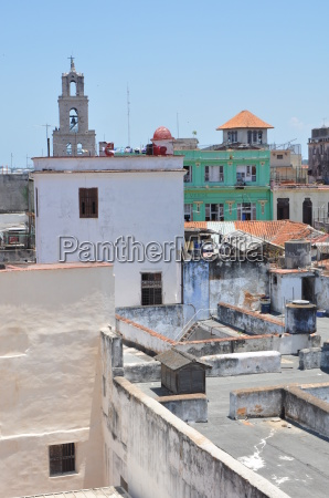 above the rooftops of havana cuba