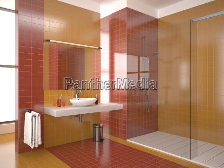 modernen roten bad