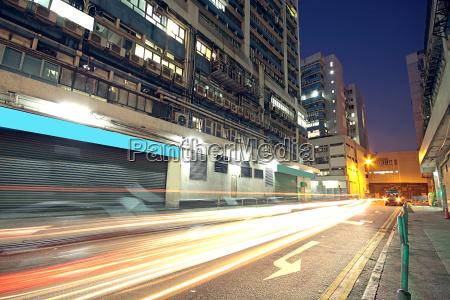 modern urban city with freeway traffic