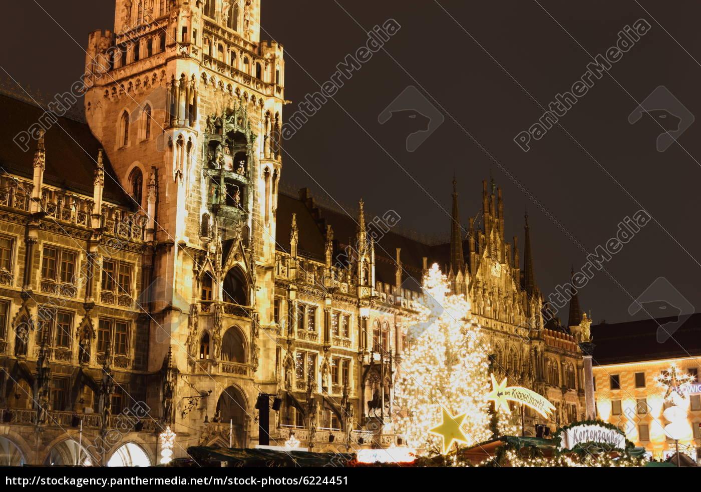 Marienplatz Weihnachtsmarkt.Stockfoto 6224451 Weihnachtsmarkt Am Marienplatz München