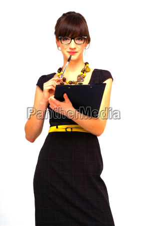 young successful woman with glasses and
